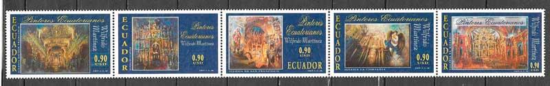 sellos arte Ecuador 2002