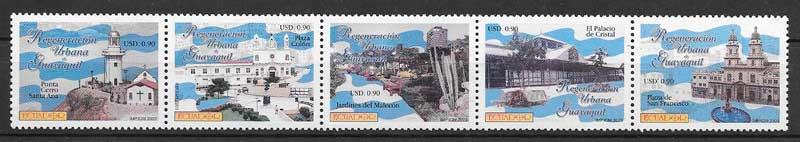 filatelia turismo y arquitectura Ecuador 2003