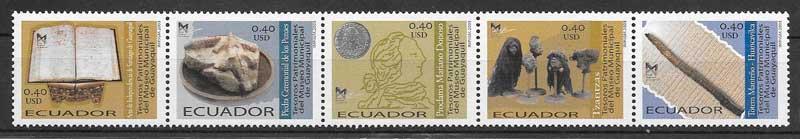 colección sellos arte Ecuador 2003