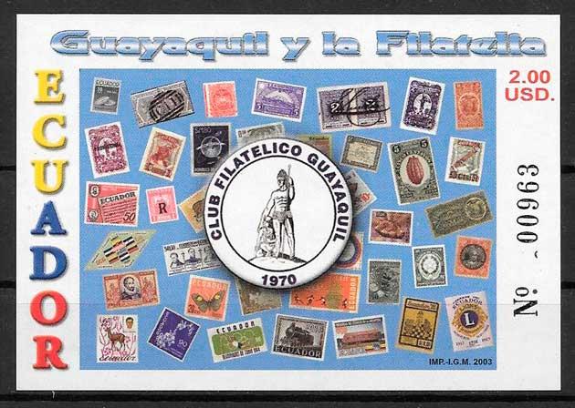 colección sellos arquitectura Ecuador 2003