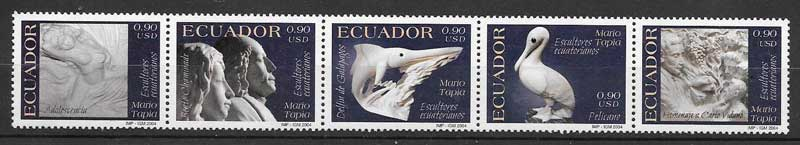 sellos arte Ecuador 2004