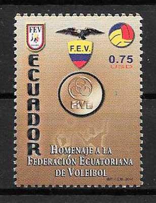 filatelia deporte Ecuador 2004