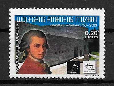 colección sellos arte Ecuador 2006