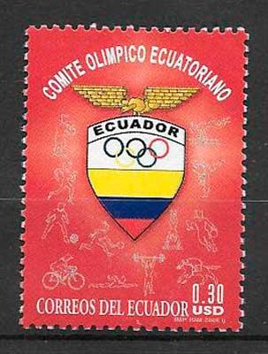 filatelia colección deporte Ecuador 2006