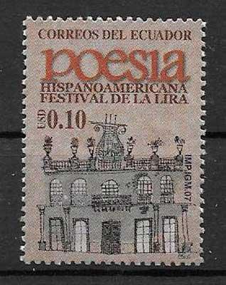 filatelia arquitectura Ecuador 2007