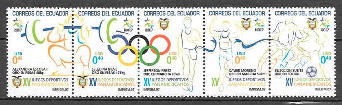 sellos deporte Ecuador 2005