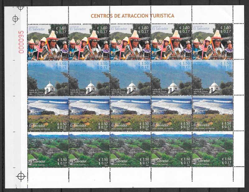 colección sellos turismo El Salvador 2003