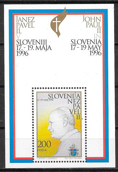 colección sellos personalidades Eslovenia 1996