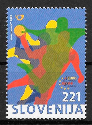 colección sellos deporte Eslovenia 2004