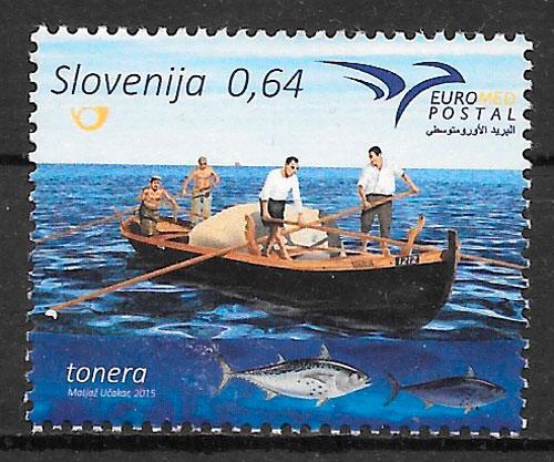 filatelia transporte Eslovenia 2015