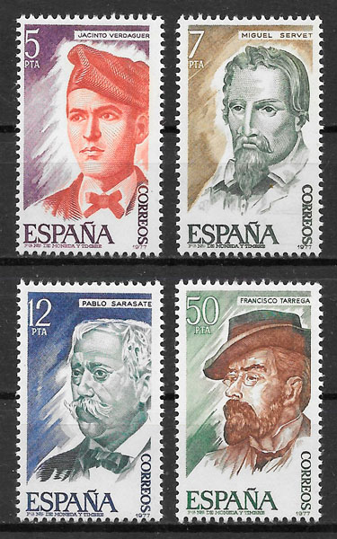 filatelia coleccion personalidad Espana 1977