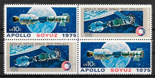 filatelia espacio USA 1975
