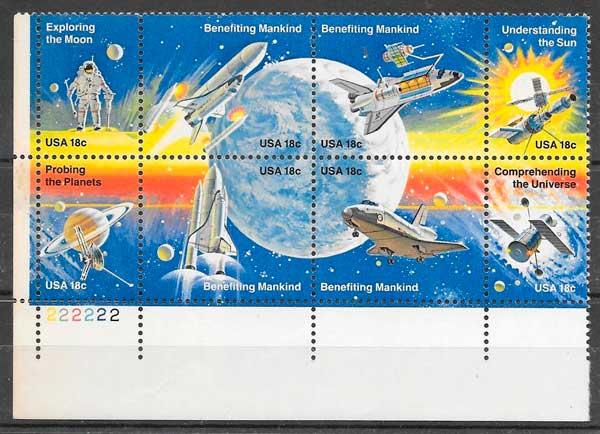 sellos espacio USA 1981