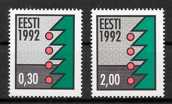 filatelia navidad Estonia 1992