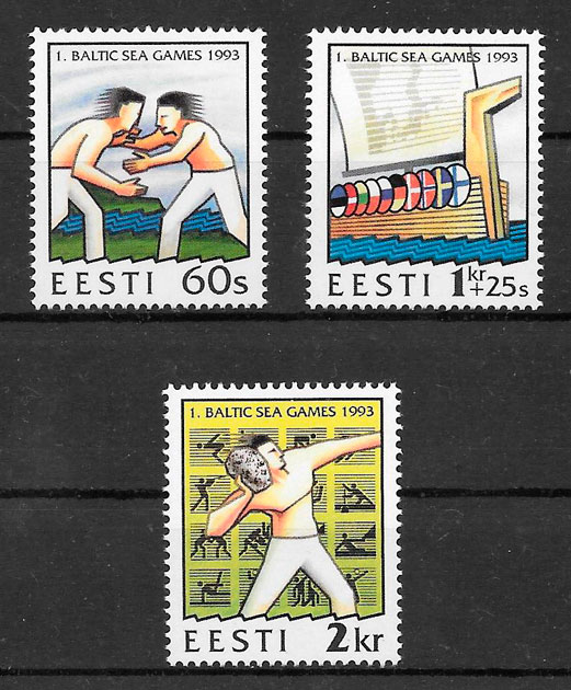filatelia deporte Estonia 1993