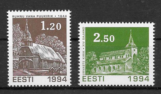colección sellos nadal Estonia 1994