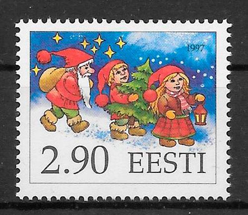 filatelia colección navidad Estonia 1997
