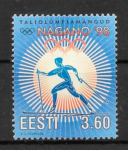 filatelia colección deporte Estonia 1998