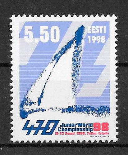 colección sellos deporte Estonia 1998