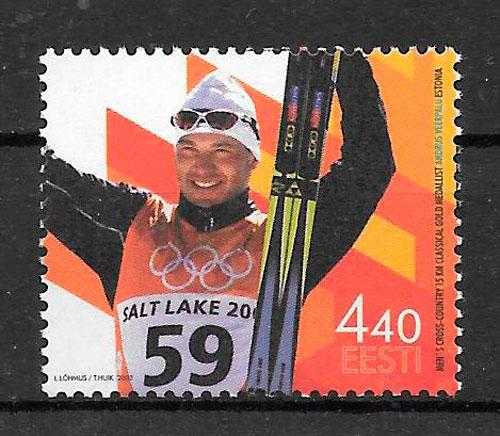 sellos deporte Estonia 2002