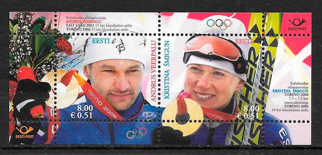 sellos deporte Estonia 2006