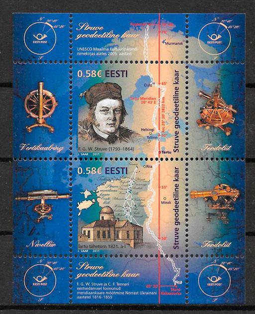 sellos personalidades Estonia 2011