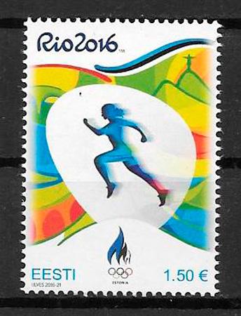 colección sellos deporte Estonia 2016