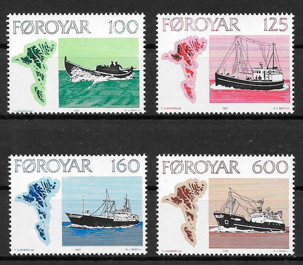 sellos transporte Feroe 1977