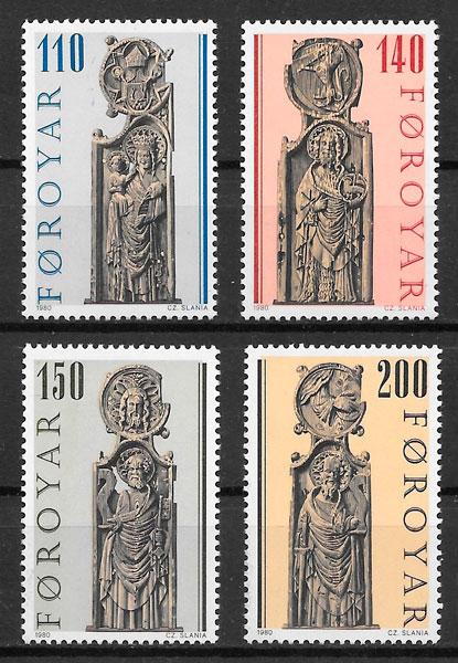 sellos arte Feroe 1980