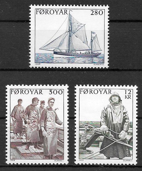 filatelia transporte Feroe 1984