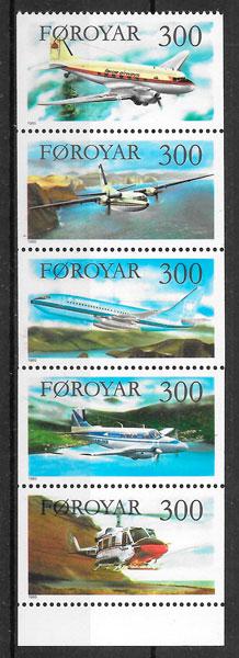 filatelia transporte Feroe 1985