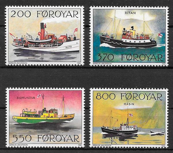 colección sellos transporte Feroe 1991