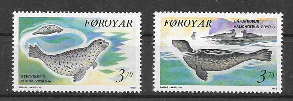 Estampillas fauna marina 1992