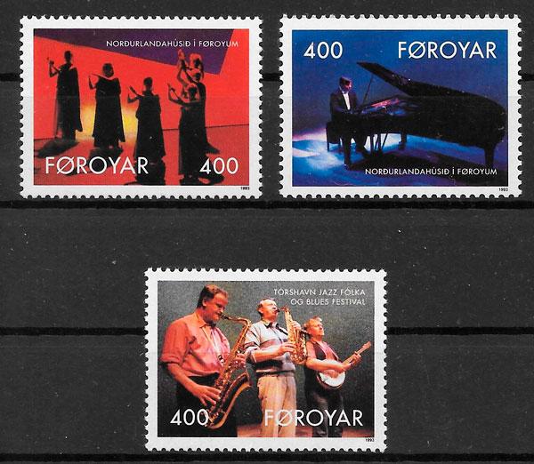colección sellos arte Feroe 1993