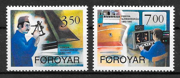 filatelia colección transporte 1994
