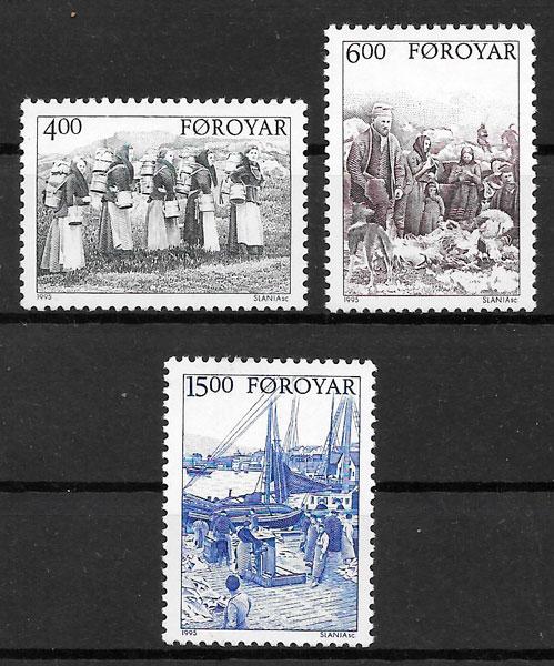 filatelia colección transporte Feroe 1995