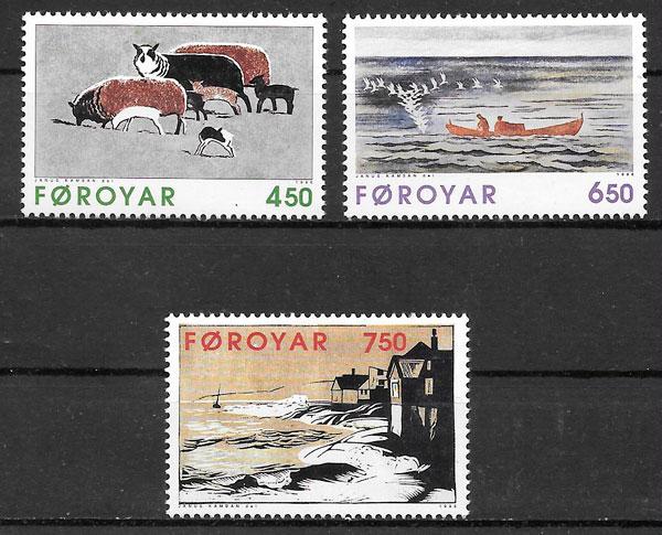 sellos arte Feroe 1996