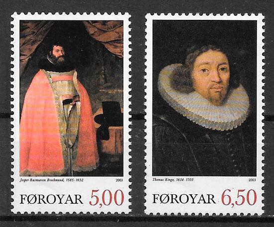 colección sellos personalidades Feroe 2003