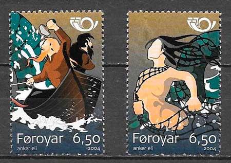 filatelia colección cuentos Feroe 2004