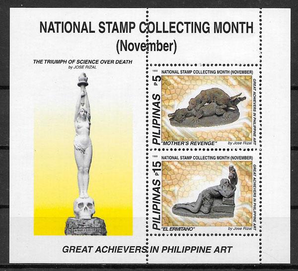 colección sellos arte Filipinas 1999