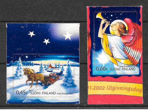 sellos navidad Finlandia 2002