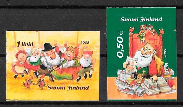 sellos navidad Finlandia 2005