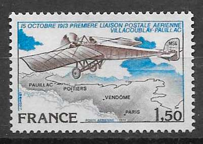 FILATELIA TRANSPORTE Francia 1978