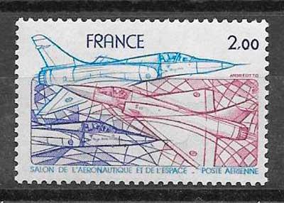 colección sellos transporte aéreo Francia 1981