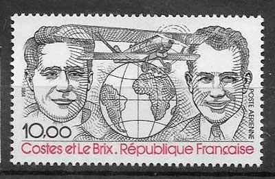 colección sellos transporte aéreos Francia 1981
