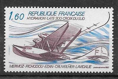 colección sellos transporte aéreo Francia 1982