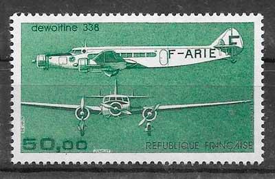 sellos transporte aéreo Francia 1987