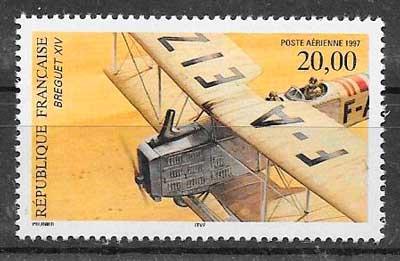 sellos transporte aéreos Francia 1987
