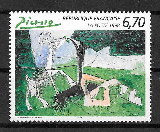 sellos arte Francia 1998