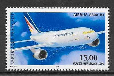 filatelia transporte aéreo Francia 1999